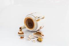 Πτώση teapot Στοκ Εικόνες