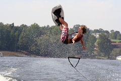 πτώση wakeboard Στοκ Φωτογραφία