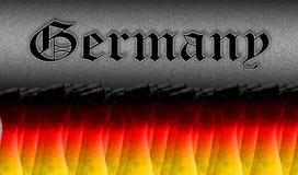Πυγμές στον αέρα με τα χρώματα της σημαίας στοκ φωτογραφία με δικαίωμα ελεύθερης χρήσης