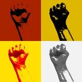 Πυγμή της έννοιας επαναστάσεων και αναταραχής διαμαρτυρίας διανυσματική απεικόνιση