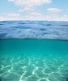 Πυθμένας της θάλασσας κοντά στην ακτή Στοκ Φωτογραφίες