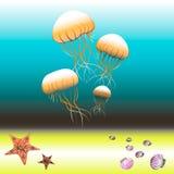 Πυθμένας της θάλασσας στο χρώμα Στοκ εικόνα με δικαίωμα ελεύθερης χρήσης