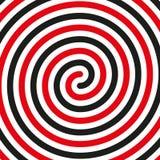Πυκνά μαύρο διπλό σπειροειδές σύμβολο Απλό επίπεδο διανυσματικό στοιχείο σχεδίου μαύρος και κόκκινος ελεύθερη απεικόνιση δικαιώματος