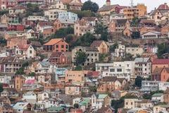 Πυκνά συσκευασμένα σπίτια στους λόφους Antananarivo Στοκ εικόνα με δικαίωμα ελεύθερης χρήσης