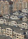 Πυκνότητα της διαβίωσης στο κέντρο πόλεων Dalian, Κίνα στοκ εικόνες