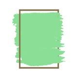 Πυκνό διανυσματικό πράσινο καφετί πλαίσιο σύστασης grunge που απομονώνεται ελεύθερη απεικόνιση δικαιώματος