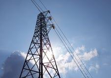Πυλώνας δικτύου ισχύος Στοκ Φωτογραφίες