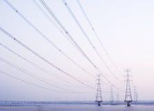 Πυλώνας ηλεκτρικής ενέργειας Στοκ Εικόνες