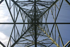 πυλώνας ηλεκτρικής ενέργ Στοκ εικόνες με δικαίωμα ελεύθερης χρήσης