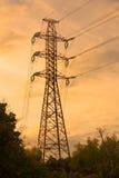 πυλώνας ηλεκτρικής ενέργ Στοκ Εικόνα