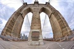 πυλώνας του Μπρούκλιν γεφυρών στοκ εικόνες