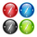 πυξίδα κουμπιών Στοκ φωτογραφία με δικαίωμα ελεύθερης χρήσης