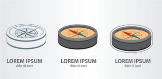 Πυξίδα λογότυπων Στοκ εικόνες με δικαίωμα ελεύθερης χρήσης