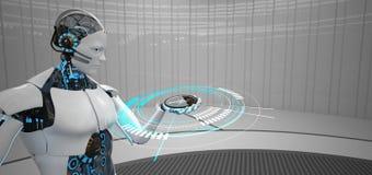 Πυξίδα ρομπότ Humanoid απεικόνιση αποθεμάτων