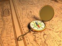 πυξίδα χρυσή Στοκ φωτογραφία με δικαίωμα ελεύθερης χρήσης