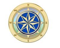 πυξίδα χρυσή Στοκ Εικόνα