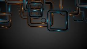 Πυράκτωσης τηλεοπτική ζωτικότητα τετραγώνων νέου μπλε πορτοκαλιά ελεύθερη απεικόνιση δικαιώματος