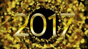 Πυράκτωσης χρυσή τηλεοπτική ζωτικότητα έτους 2017 μορίων νέα ελεύθερη απεικόνιση δικαιώματος