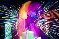 Πυράκτωσης UV νέου προκλητική κούκλα cyber disco θηλυκή Στοκ Εικόνα