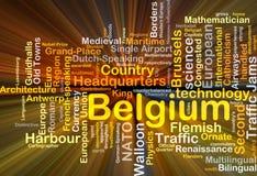 Πυράκτωση έννοιας υποβάθρου του Βελγίου Στοκ Εικόνες