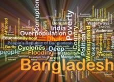 Πυράκτωση έννοιας υποβάθρου του Μπανγκλαντές Στοκ Φωτογραφία