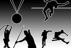 πυράκτωση αθλητισμού διανυσματική απεικόνιση