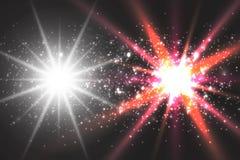 Πυράκτωση ελαφριάς επίδρασης Λαμμμένα αστέρι τσέκια abstract background space ελεύθερη απεικόνιση δικαιώματος