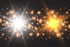 Πυράκτωση ελαφριάς επίδρασης Λαμμμένα αστέρι τσέκια abstract background space διανυσματική απεικόνιση