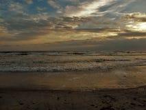 Πυράκτωση ηλιοβασιλέματος Daytona Beach στοκ φωτογραφίες