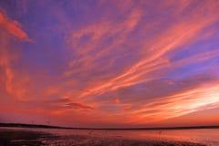 Πυράκτωση ηλιοβασιλέματος Στοκ φωτογραφίες με δικαίωμα ελεύθερης χρήσης