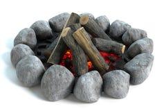 Πυρά προσκόπων με το ξύλο στοκ εικόνες με δικαίωμα ελεύθερης χρήσης