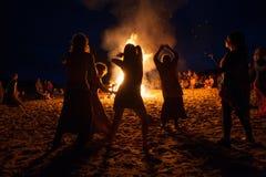 Πυρά προσκόπων νύχτας Στοκ Φωτογραφία