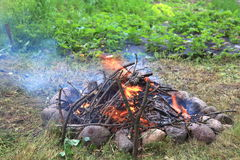 πυρά προσκόπων φωτιών Στοκ εικόνα με δικαίωμα ελεύθερης χρήσης