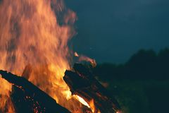 Πυρά προσκόπων Στοκ εικόνες με δικαίωμα ελεύθερης χρήσης