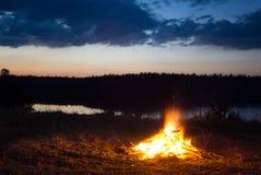 πυρά προσκόπων Στοκ εικόνα με δικαίωμα ελεύθερης χρήσης