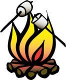 πυρά προσκόπων marshmellows στοκ φωτογραφίες με δικαίωμα ελεύθερης χρήσης