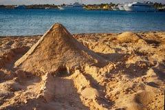 πυραμίδα από την άμμο στοκ εικόνες με δικαίωμα ελεύθερης χρήσης