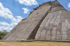 Πυραμίδα επί του archeological τόπου της Maya Uxmal Μεξικό Στοκ εικόνα με δικαίωμα ελεύθερης χρήσης