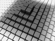 πυραμίδα μαύρων κουτιών Στοκ εικόνα με δικαίωμα ελεύθερης χρήσης