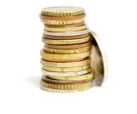 πυραμίδα νομισμάτων Στοκ Φωτογραφίες