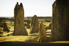 πυραμίδες ασβεστόλιθων Στοκ Εικόνες