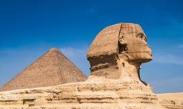 Πυραμίδες και Sphinx στοκ εικόνα με δικαίωμα ελεύθερης χρήσης