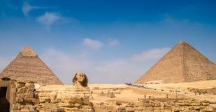 Πυραμίδες και Sphinx στοκ εικόνα