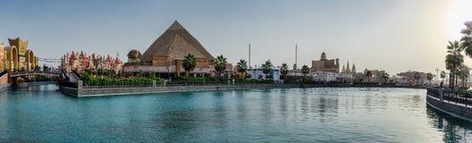 Πυραμίδες περίπτερων της Αιγύπτου στο κέντρο Glob ψυχαγωγίας πάρκων στοκ φωτογραφία με δικαίωμα ελεύθερης χρήσης