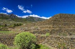 Πυραμίδες Guimar Tenerife, χειμώνας 2018 Στοκ εικόνα με δικαίωμα ελεύθερης χρήσης