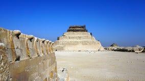 Πυραμίδα βημάτων Djoser, Saqquara, Αίγυπτος Στοκ Φωτογραφία
