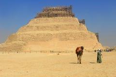 Πυραμίδα βημάτων Saqqara στοκ φωτογραφίες
