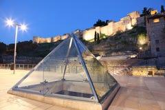 Πυραμίδα γυαλιού στη Μάλαγα, Ισπανία στοκ εικόνες με δικαίωμα ελεύθερης χρήσης