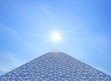 Σύγχρονος πυραμίδων Στοκ εικόνα με δικαίωμα ελεύθερης χρήσης