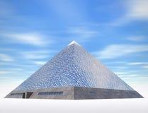 Σύγχρονος πυραμίδων ελεύθερη απεικόνιση δικαιώματος